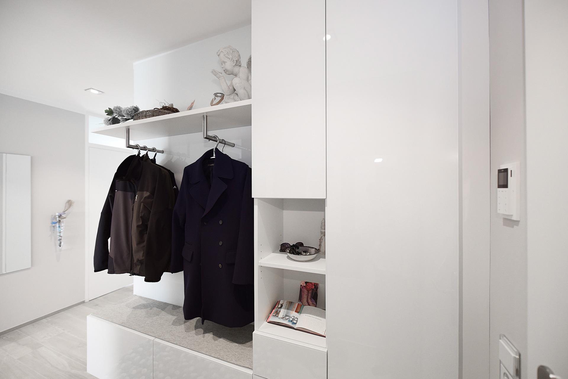 Garderobe als Einbauschrank